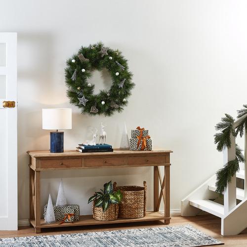 Temple & Webster 76cm Classic Pine Premium Wreath