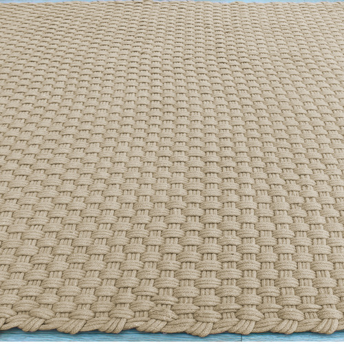 Temple & Webster Natural Dawson Hand-Woven Cotton-Blend Rug