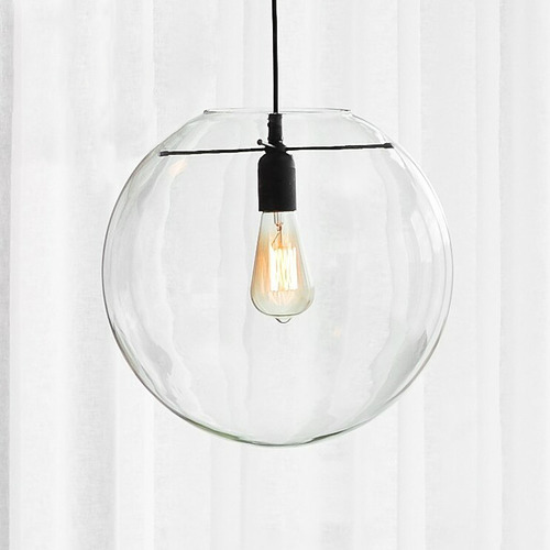 Temple & Webster Cosmo Glass & Steel Pendant Light