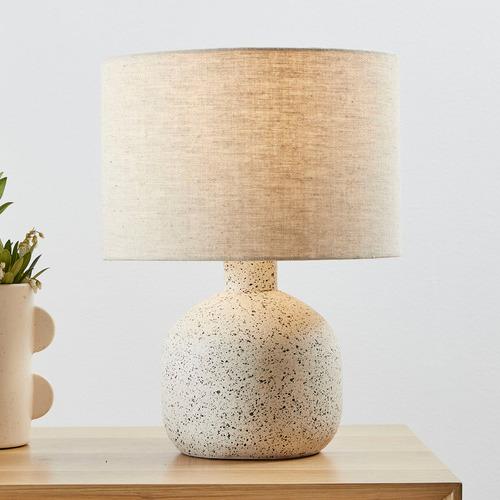42cm White Maya Ceramic Table Lamp
