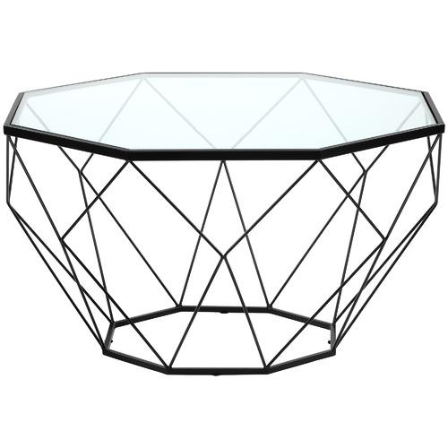 Pantheon Glass-Top Coffee Table