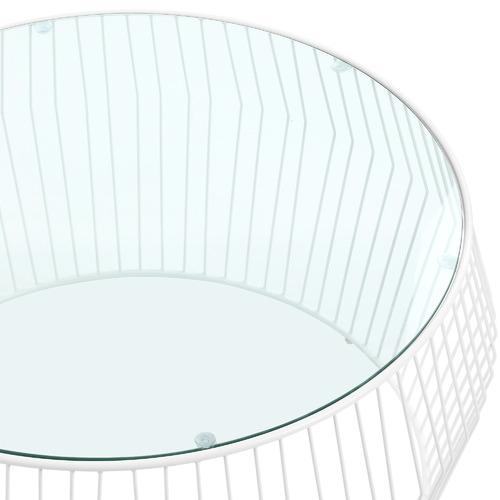 Navona Glass-Top Coffee Table