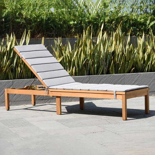 Temple & Webster Natural Maui Eucalyptus Wood Wheeled Sun Lounge