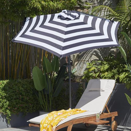 Temple & Webster 2.7m Striped Brighton Market Umbrella