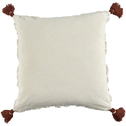 Ochre Tasselled Elkie Square Cotton Cushion
