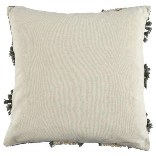 Green Embroidered Demi Cotton Cushion