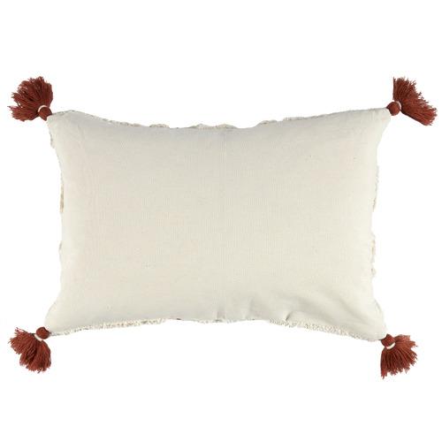 Ochre Tufted Elkie Rectangular Cushion with Tassels