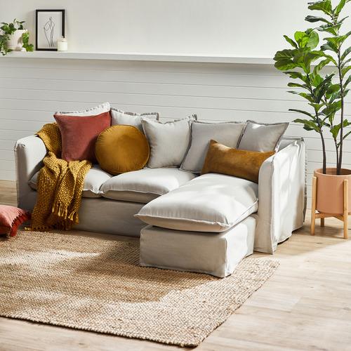 Temple & Webster Rose Minnie Velvet Cushion
