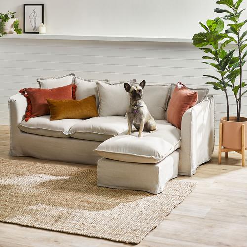 Temple & Webster Rust Minnie Tasselled Velvet Cushion