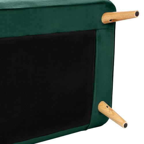Temple & Webster Dark Green Aero Velvet Double Sofa Bed