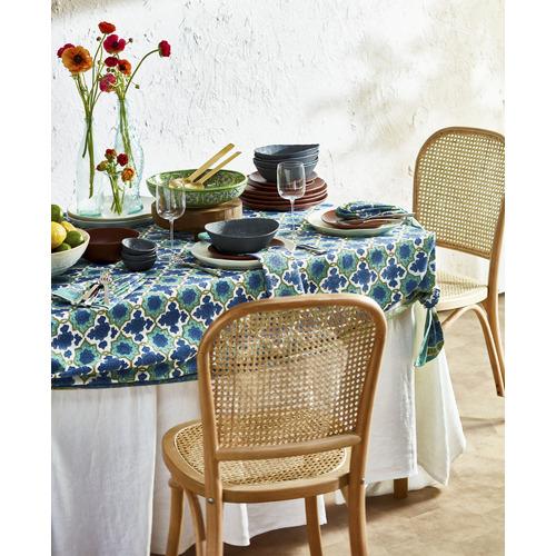 Temple & Webster Luca Beech & Rattan Dining Chair