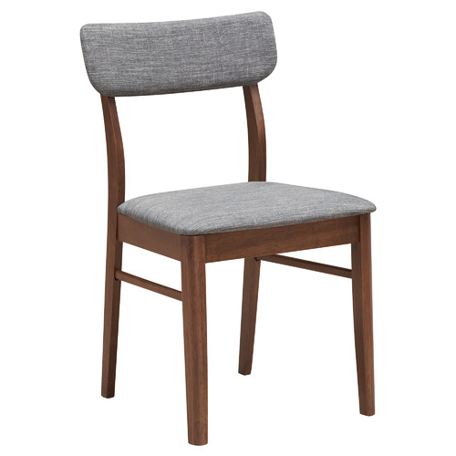 Dark Grey Tuva Faux Leather Dining Chairs