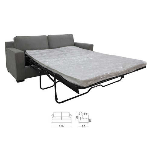 Oyster Ollie 2.5 Seater Upholstered Sofa Bed