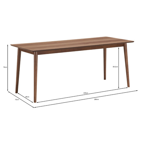 Temple & Webster Walnut Tuva 180cm Dining Table