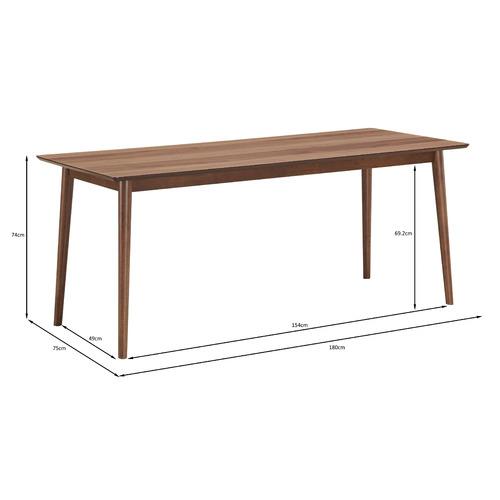Walnut Tuva 180cm Dining Table