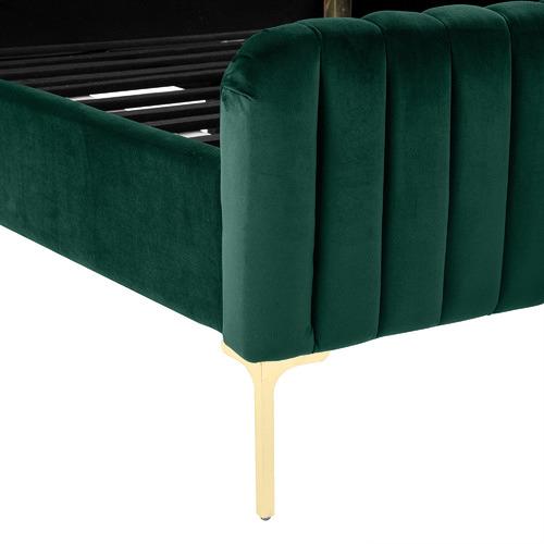 Dark Green Emily Velvet Bed