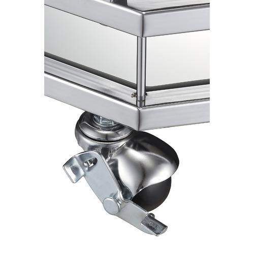 Silver Bahamas Metal & Glass Bar Cart