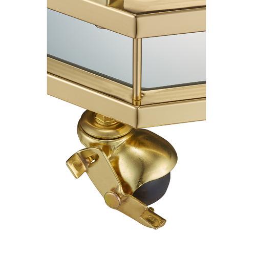 Gold Bahamas Metal & Glass Bar Cart