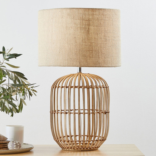 63cm Natural Havana Rattan Table Lamp