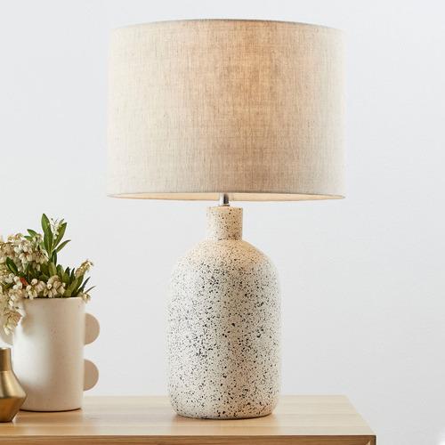57cm White Maya Ceramic Table Lamp