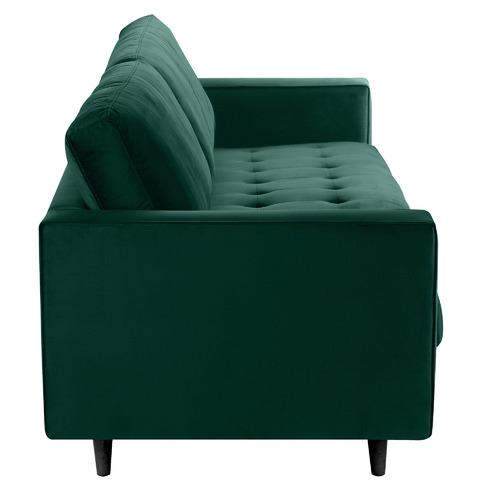 Dark Green Mera 3 Seater Velvet Sofa