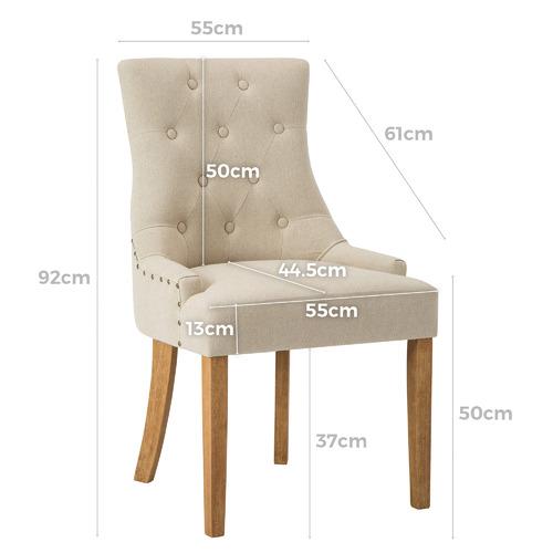 Beige Windsor Scoop Back Dining Chair