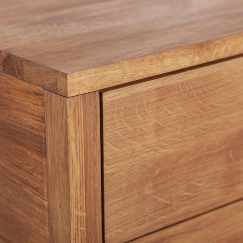 Olwen 2 Drawer Oak Bedside Table