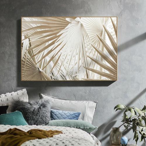Sun-Kissed Palms Framed Canvas Wall Art