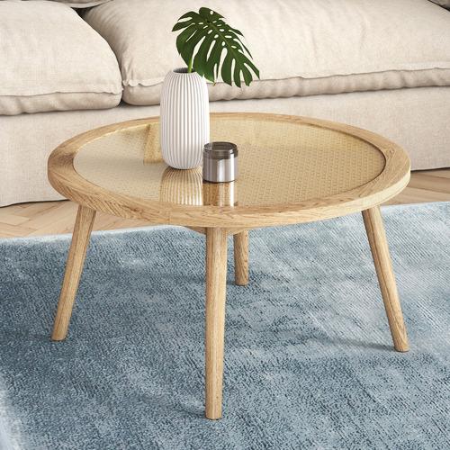 Light Oak Daintree Rattan & Oak Coffee Table