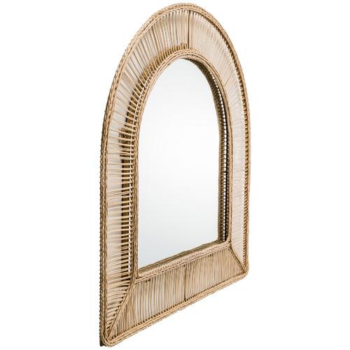 Cora Arched Wicker Wall Mirror