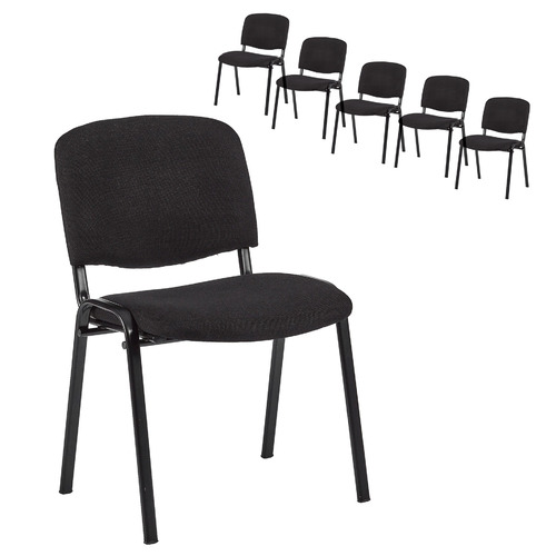 Set of 6 Stackable Office Visitor Conference Chairs