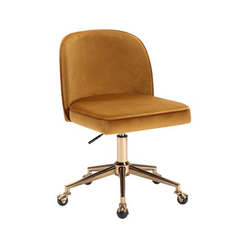 Ochre Juliet Velvet Office Chair