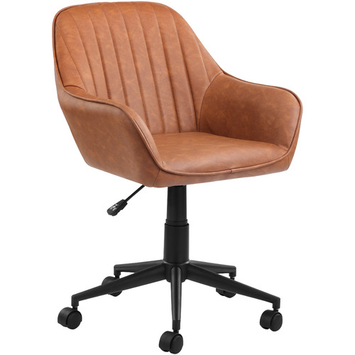 Tan Kinsey Faux Leather Office Chair