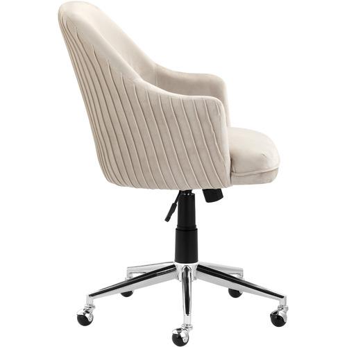 Cream Palmer Velvet Office Chair