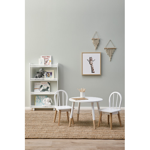 Kids' White & Natural Isla Chairs