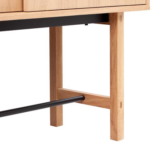 Natural Estelle Wood & Fluted Glass Display Cabinet