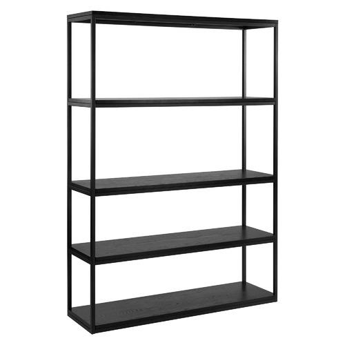 Black Boras Wooden Bookshelf