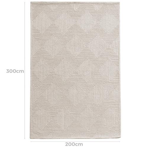 Ivory Mason Hand-Tufted Wool Blend Rug