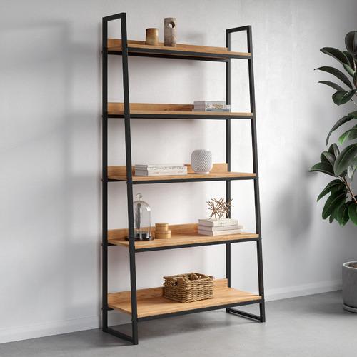 Natural Jackson 5 Tier Bookshelf