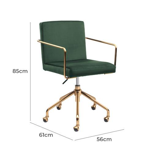 Camden Velvet Home Office Chair