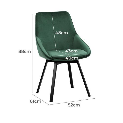 Nappa Velvet Swivel Dining Chairs