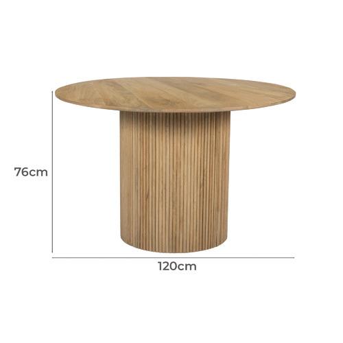 Anika 120cm Round Dining Table