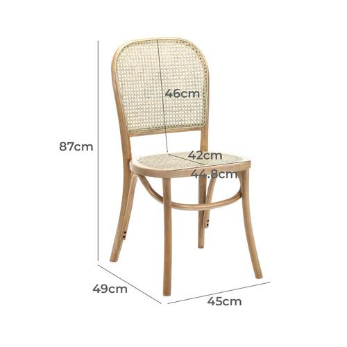 Luca Beech & Rattan Dining Chairs