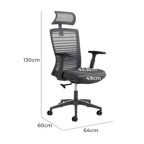 Executive Office Chair with Headrest