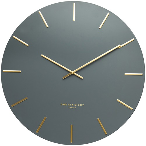 One Six Eight London 30cm Charcoal Luca Silent Wall Clock