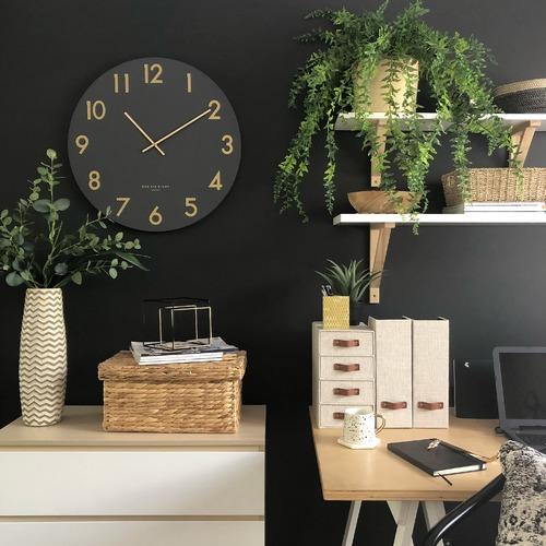 Charcoal Grey Jones Silent Wall Clock