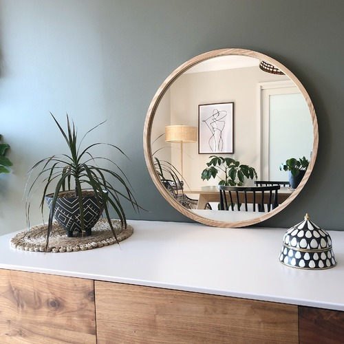 One Six Eight London Leo Wooden Mirror