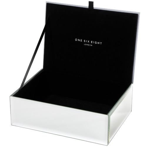 One Six Eight London Medium Florence Glass Jewellery Box