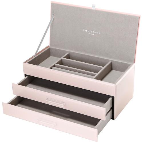 One Six Eight London Large Gabriella Glass Jewellery Box