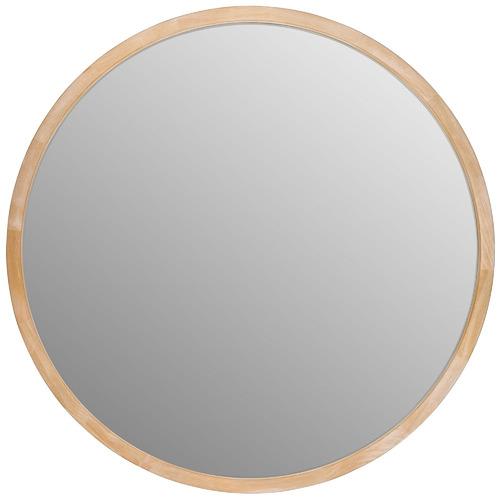 Tina Round Wooden Mirror